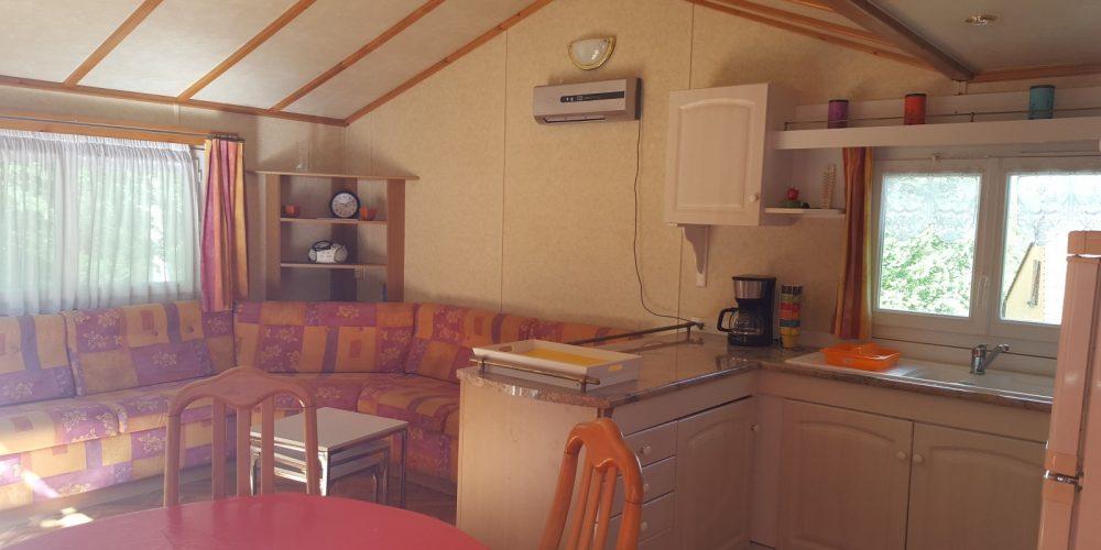 Mobil-Home 46 Salon et cuisine