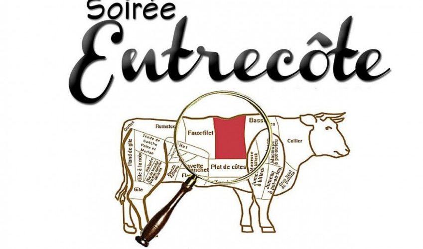 Affiche soirées Entrecôte 24.08.18