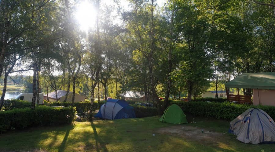 Camping l'Air du Lac emplacements.
